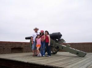A fort located at Savannah, Georgia