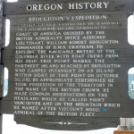 Mostly Wordless Wednesday: Oregon Historical Way marker