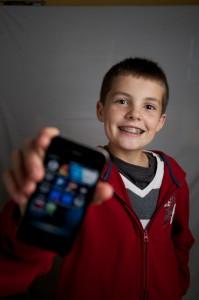 Matthew with app