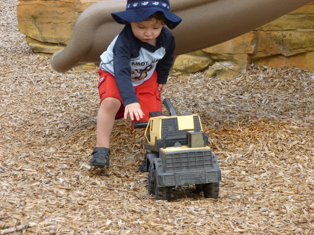 My son happily playing at the park just a week after using AD RescueWear.  Legs free from pants and no itching!