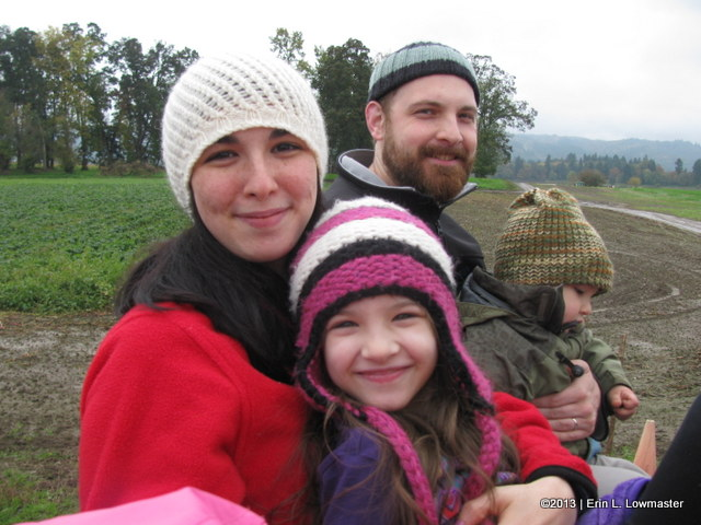 My kids first hayride!