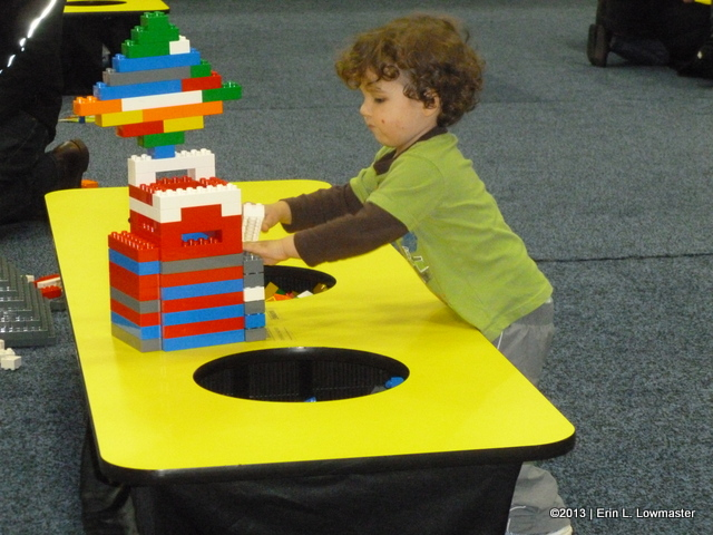 My son build with Duplos