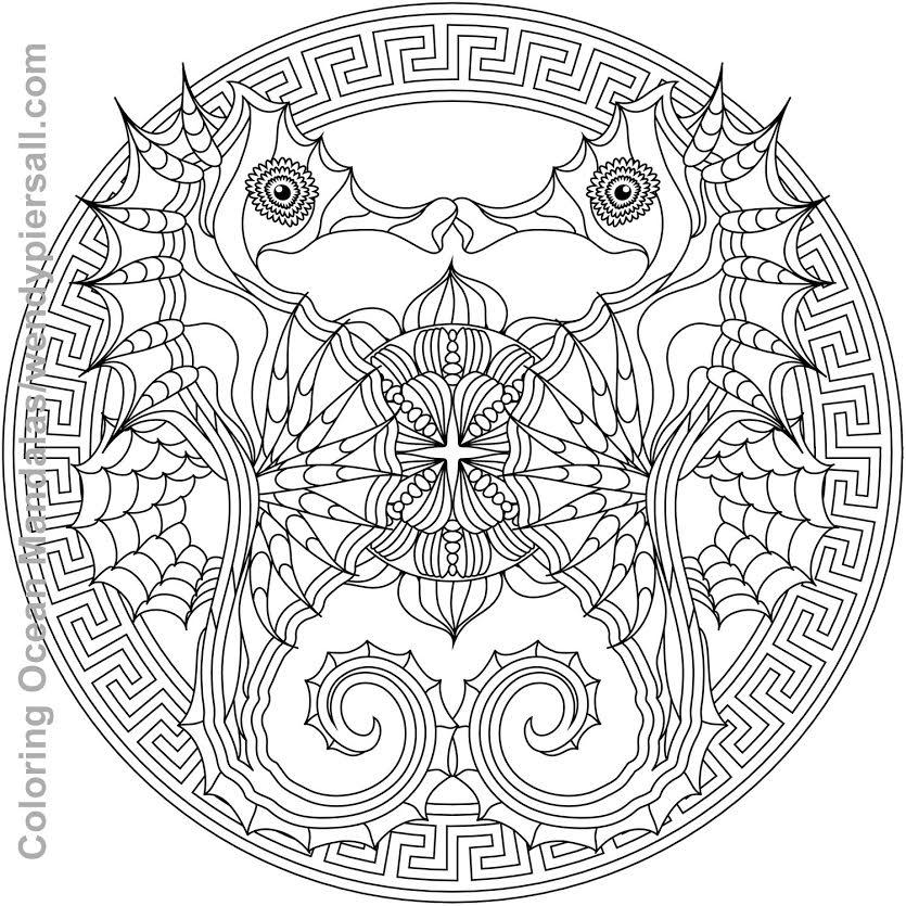 ocean mandalas coloring pages - photo #2