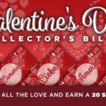 Valentine's Day Collector's Bills