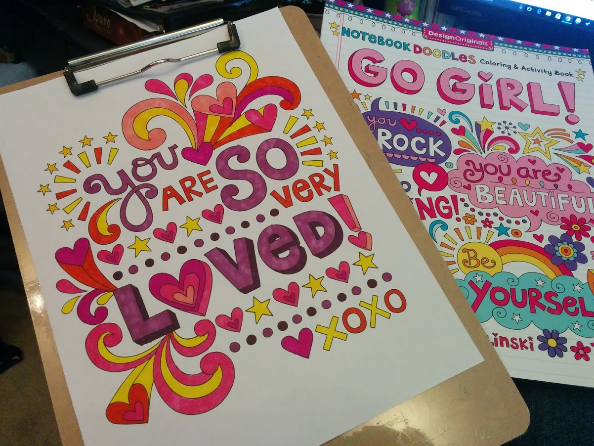 Notebook Doodles Go Girl Has 30 Interactive Art Activities Instead Of Just Being A Book With Illustration After Illustrations To Color There Are