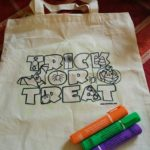 Colortime Crafts and Markers: HALLOWEEN GLOW-IN-THE-DARK TOTE BAG {review}