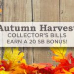 Autumn Harvest Collector's Bills – get bonuses for searching the web!